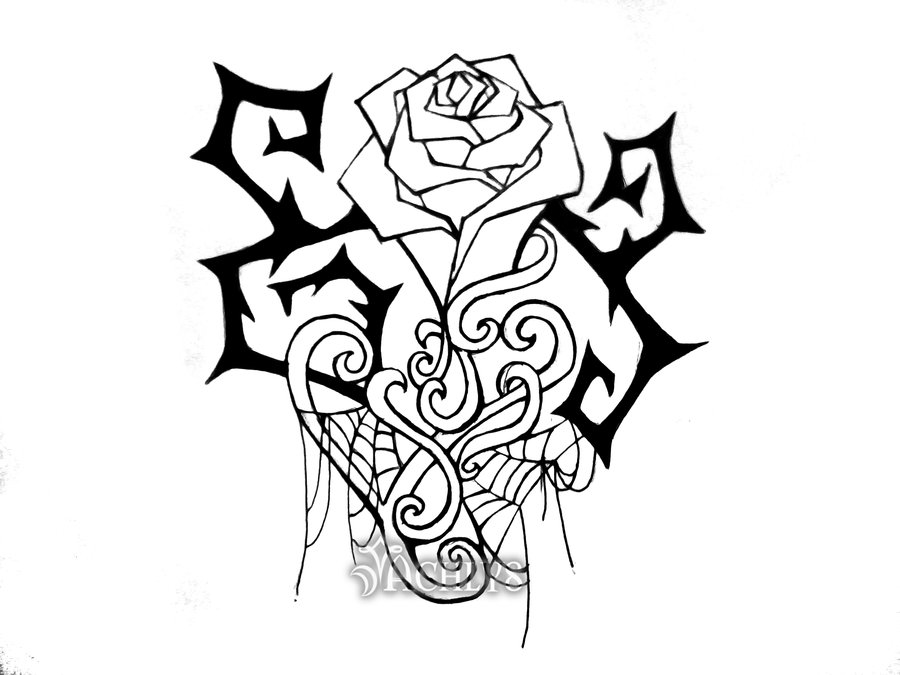 roses with thorns drawings.