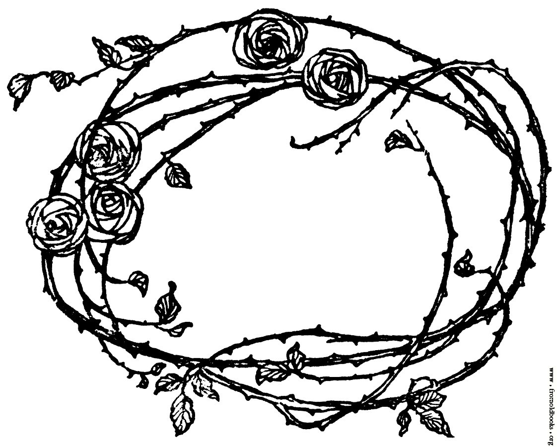 Picture: Border of Roses and Thorns].