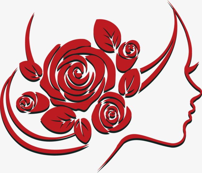 Vector Rose Woman, Rose Clipart, Woman Clipart, Rose PNG and.