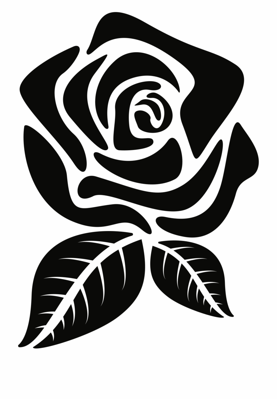 Rose Silhouette Png.