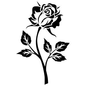 Rose Silhouette clipart, cliparts of Rose Silhouette free.