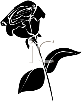 Rose Silhouette Clipart.