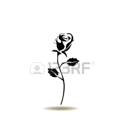 30,982 Rose Silhouette Stock Vector Illustration And Royalty Free.