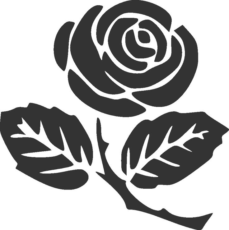 Rose silhouette clip art.