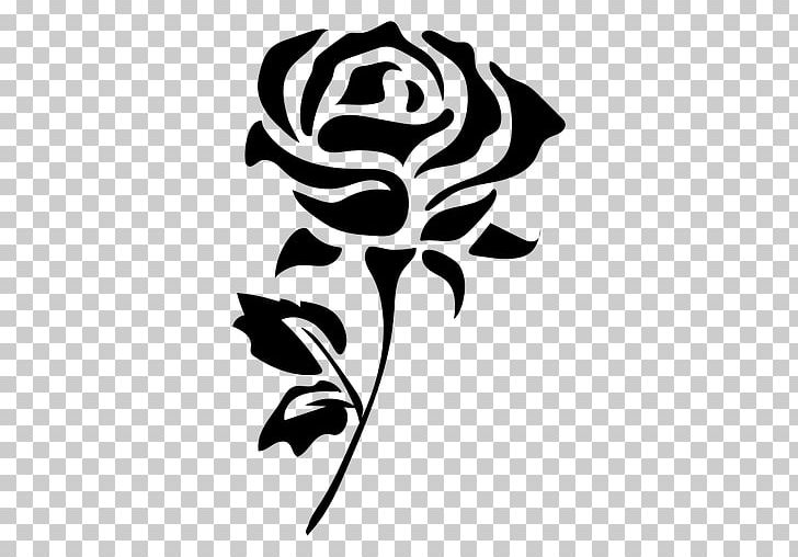 Flower Silhouette Drawing Rose PNG, Clipart, Black, Black.