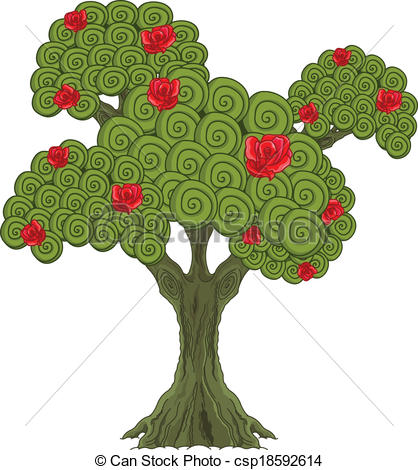 Rose tree Stock Illustration Images. 2,959 Rose tree illustrations.