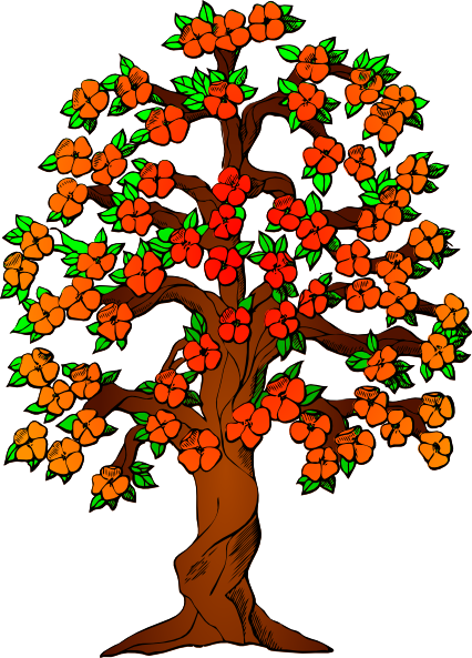 Flowered Tree Clip Art at Clker.com.