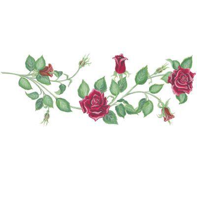 Red Rose Vine Clip Art.