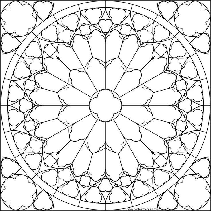 Rose Window Outline.