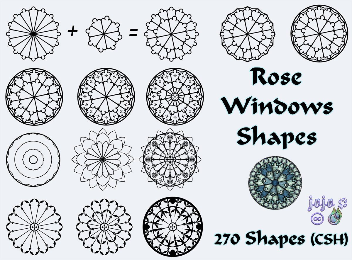 Rose Windows Shapes by jojo.