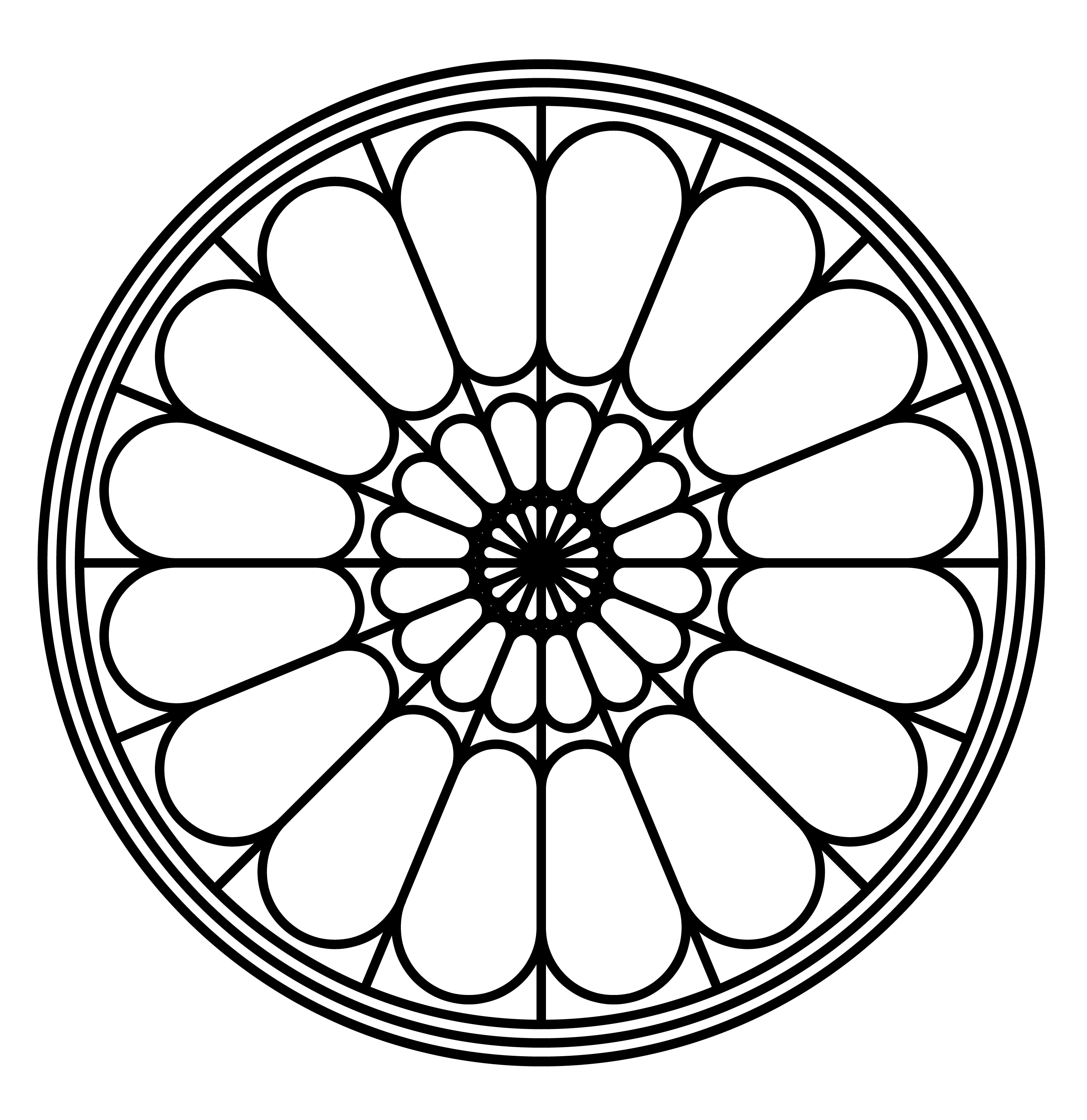 Rose window clipart - Clipground