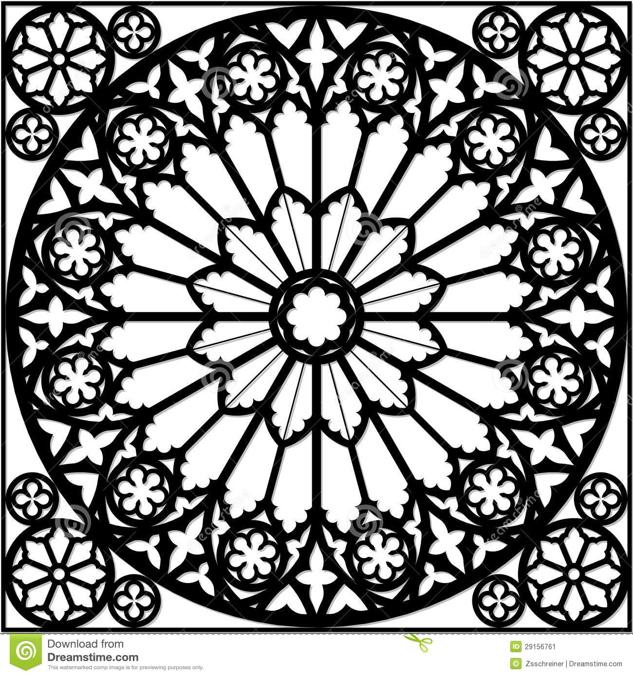 Roses Window Clipart.