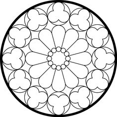 simple rose window pattern.