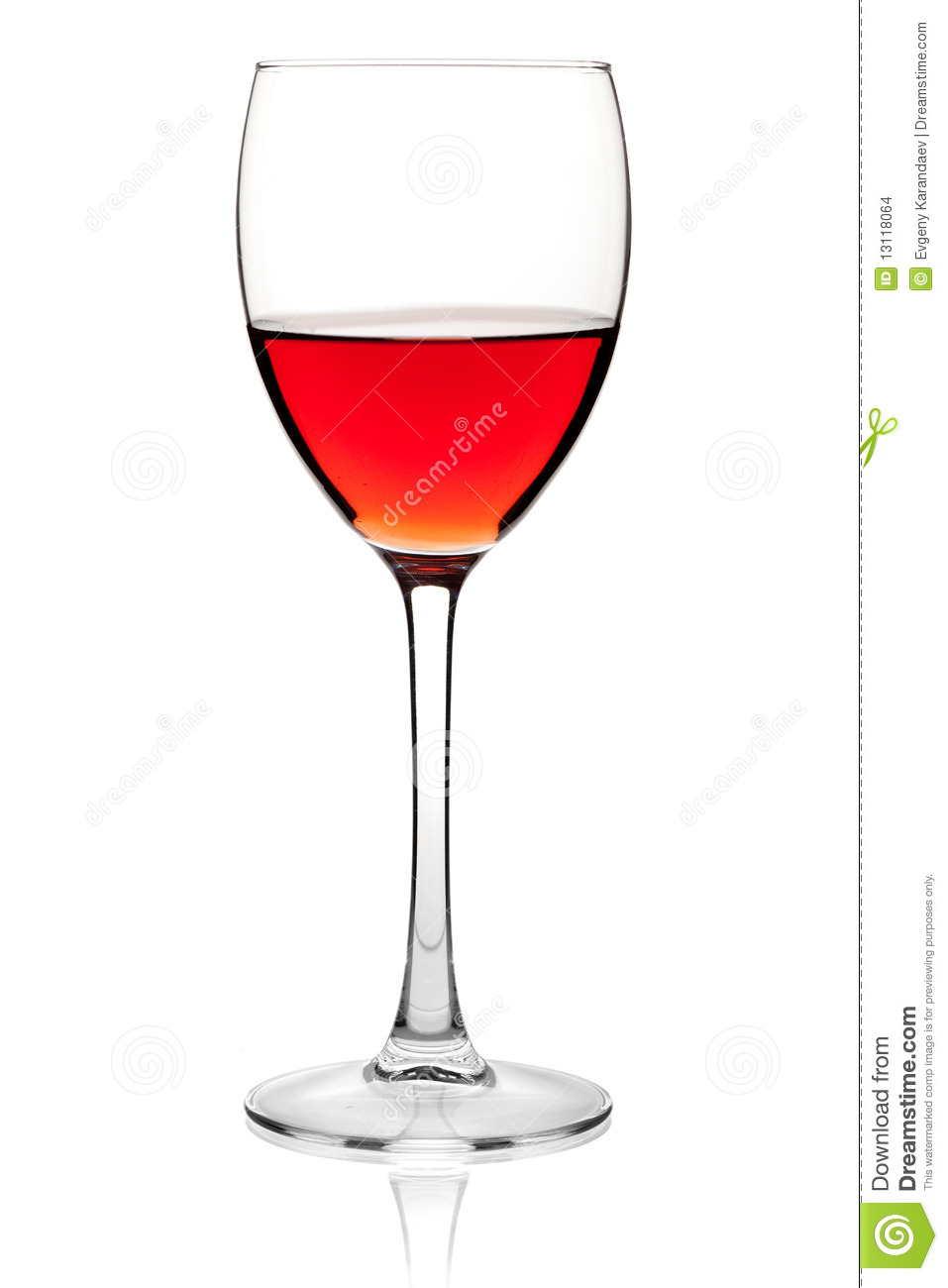 Rose Wine In A Glass Stock Images.