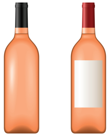 Rosé Wine Clip Art, Vector Images & Illustrations.