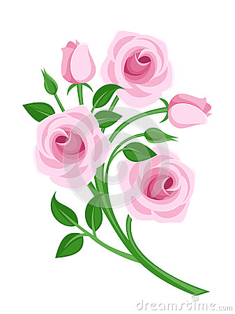 Rose buds clipart.