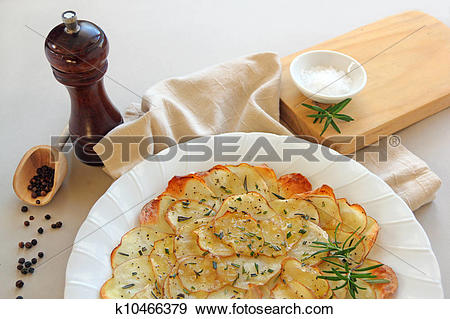 Stock Illustration of Rosemary Potato Chips k10466379.