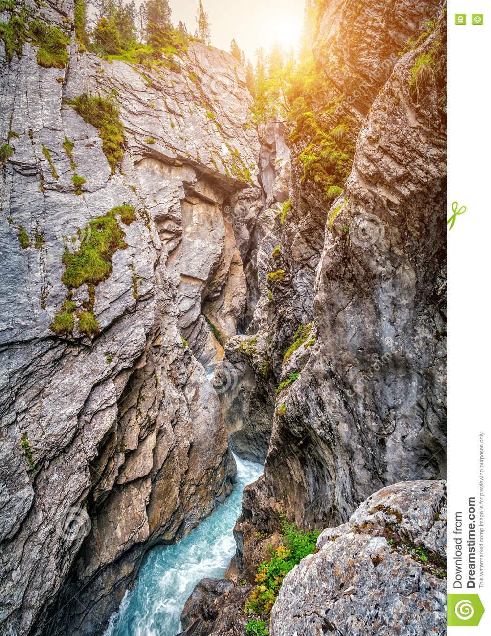 Famous Mystical Rosenlaui Glacier Gorge (Rosenlaui.