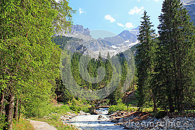 Rosenlaui In Berner Oberland, Switzerland Royalty Free Stock.