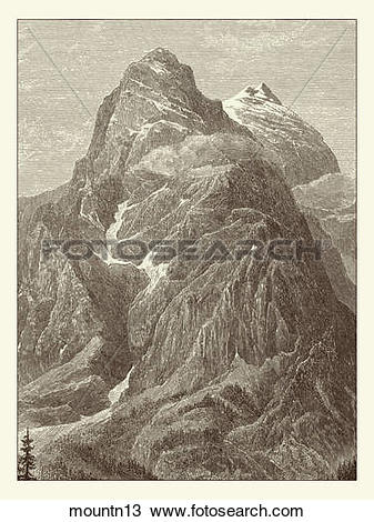 Drawing of Antique Illustration (wood engraving) of a View of a.