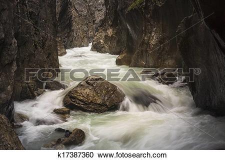 Stock Photography of Rosenlaui Gorge k17387360.