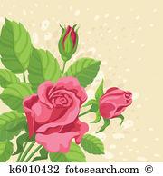 Rosenstock Clip Art Lizenzfrei. 21 rosenstock Clipart Vektor EPS.