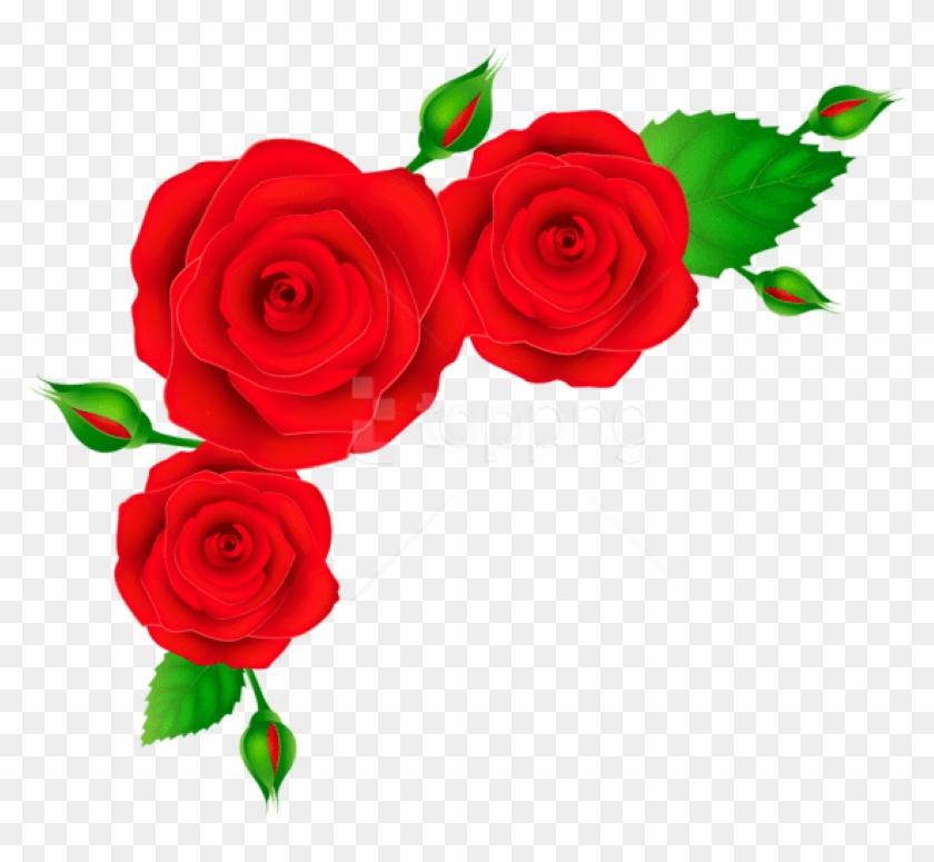 Free Png Download Red Roses Corner Transparent Clipart.