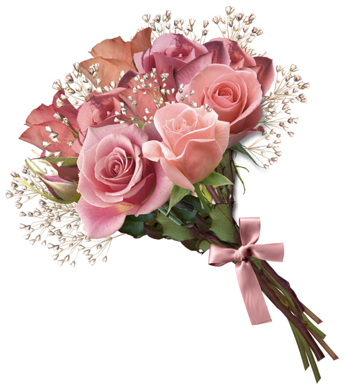 Pink Rose Bouquet PNG Clipart.