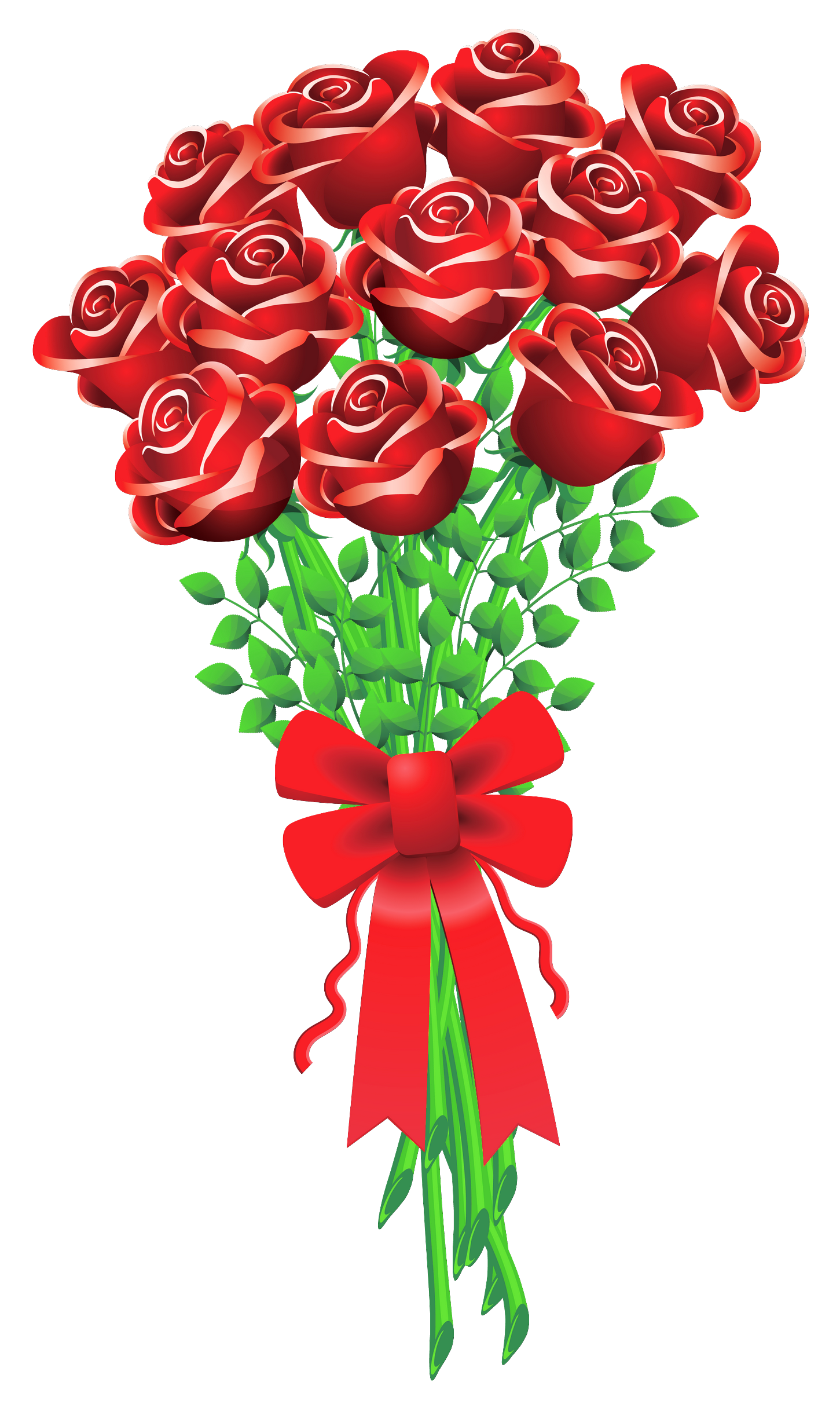 Roses rose bouquet cartoon clipart clipart kid.