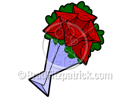 Cartoon Roses Clipart Picture.
