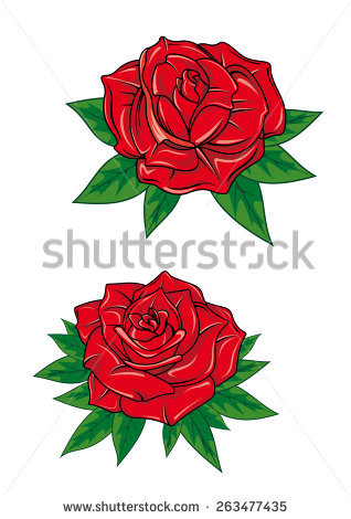 Rose Tattoo Stock Images, Royalty.