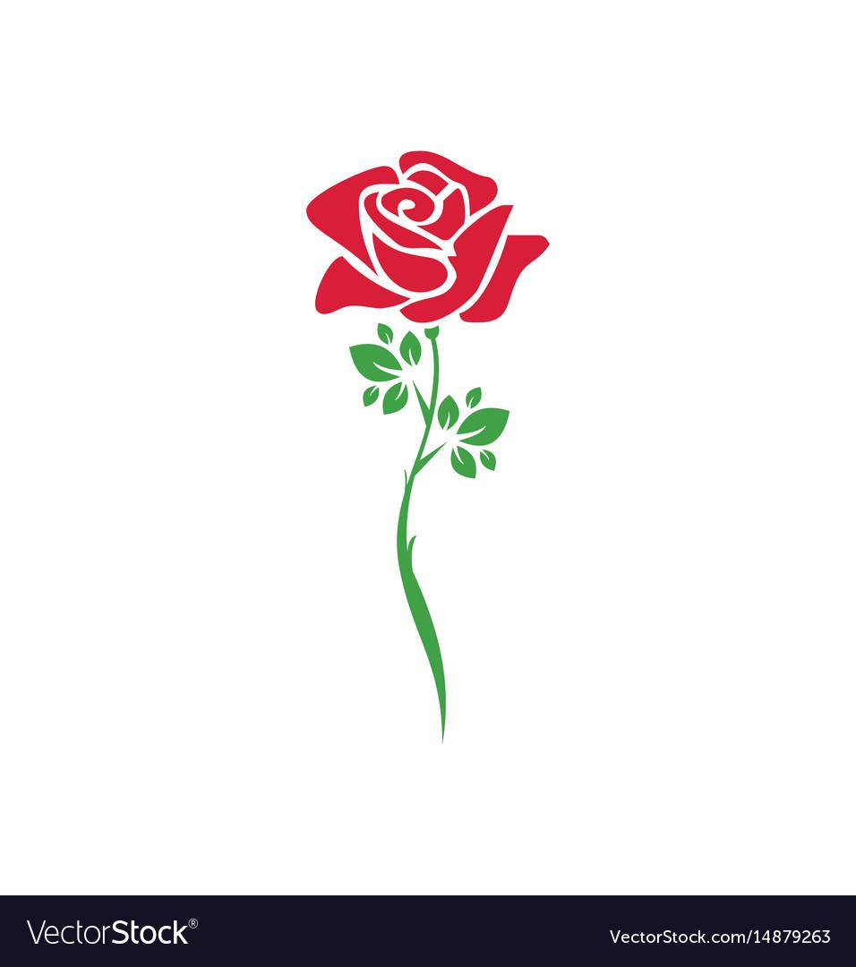 Rose flower plant logo.