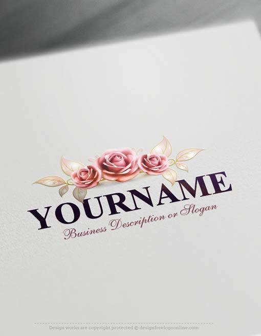 Free Flowers Logo Maker.