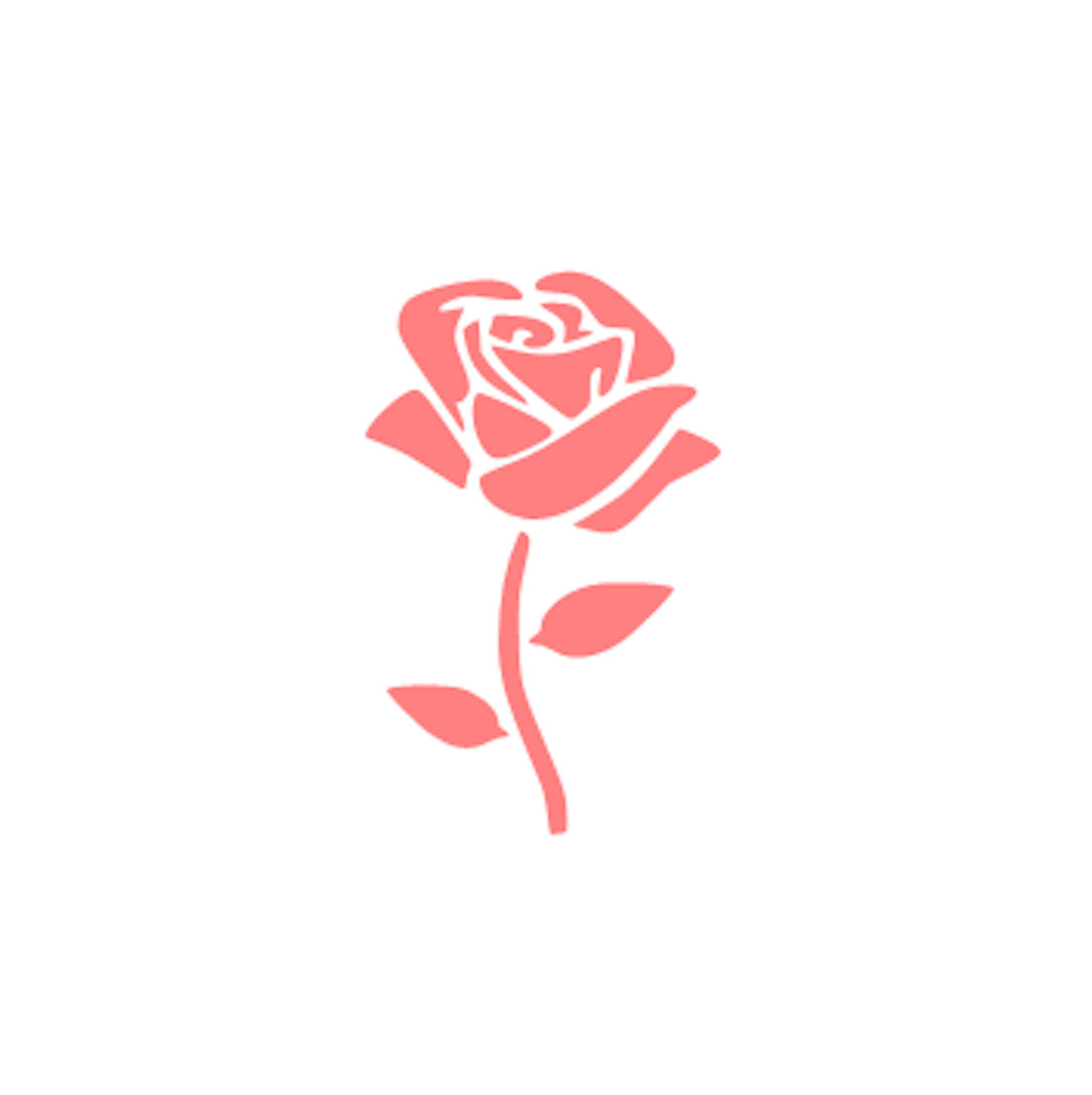 Rose on Stem Cookie Stencil Set.