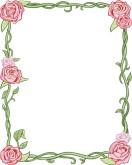 Wedding Flower Borders, Floral Wedding Borders, Flowering Borders.
