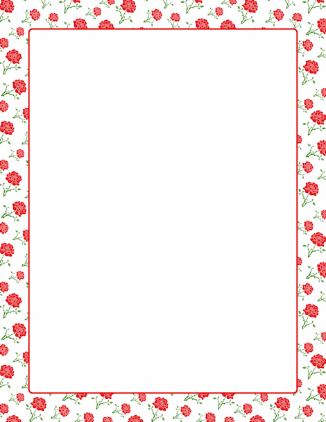 A page border featuring roses. Free downloads at http.