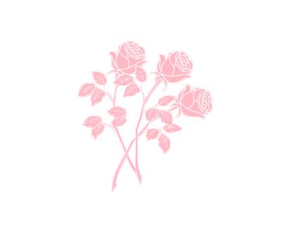 transparent roses.