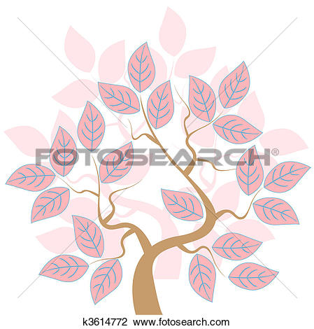 Clipart of Rose Tree k3614772.