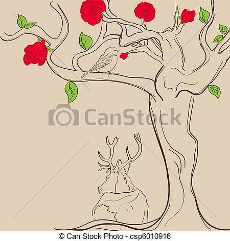 Rose tree Stock Illustration Images. 2,959 Rose tree illustrations.
