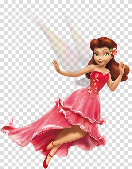 Fairy in red dress illustration, Tinker Bell Rosetta Disney.