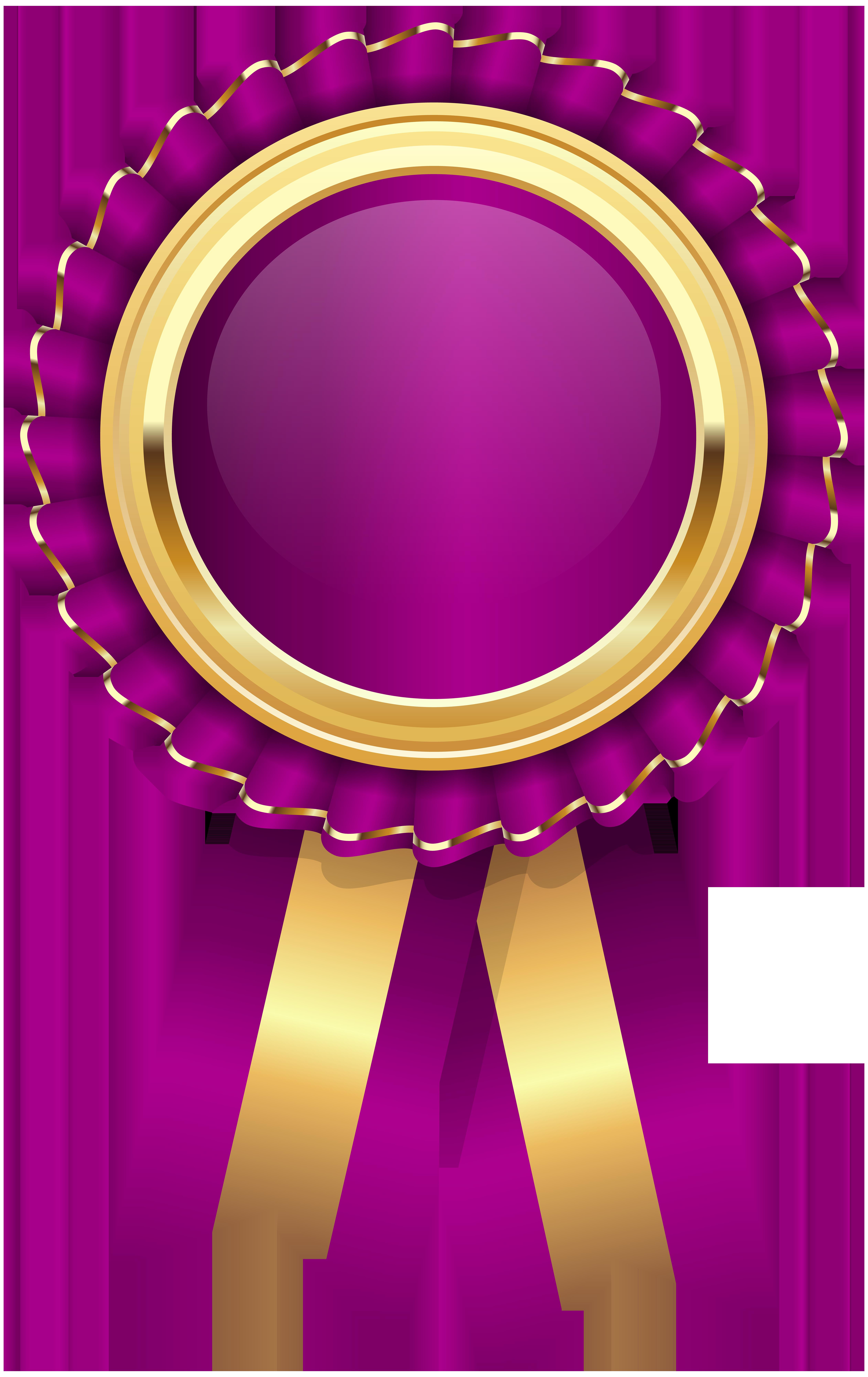 Purple Rosette PNG Clip Art Image.