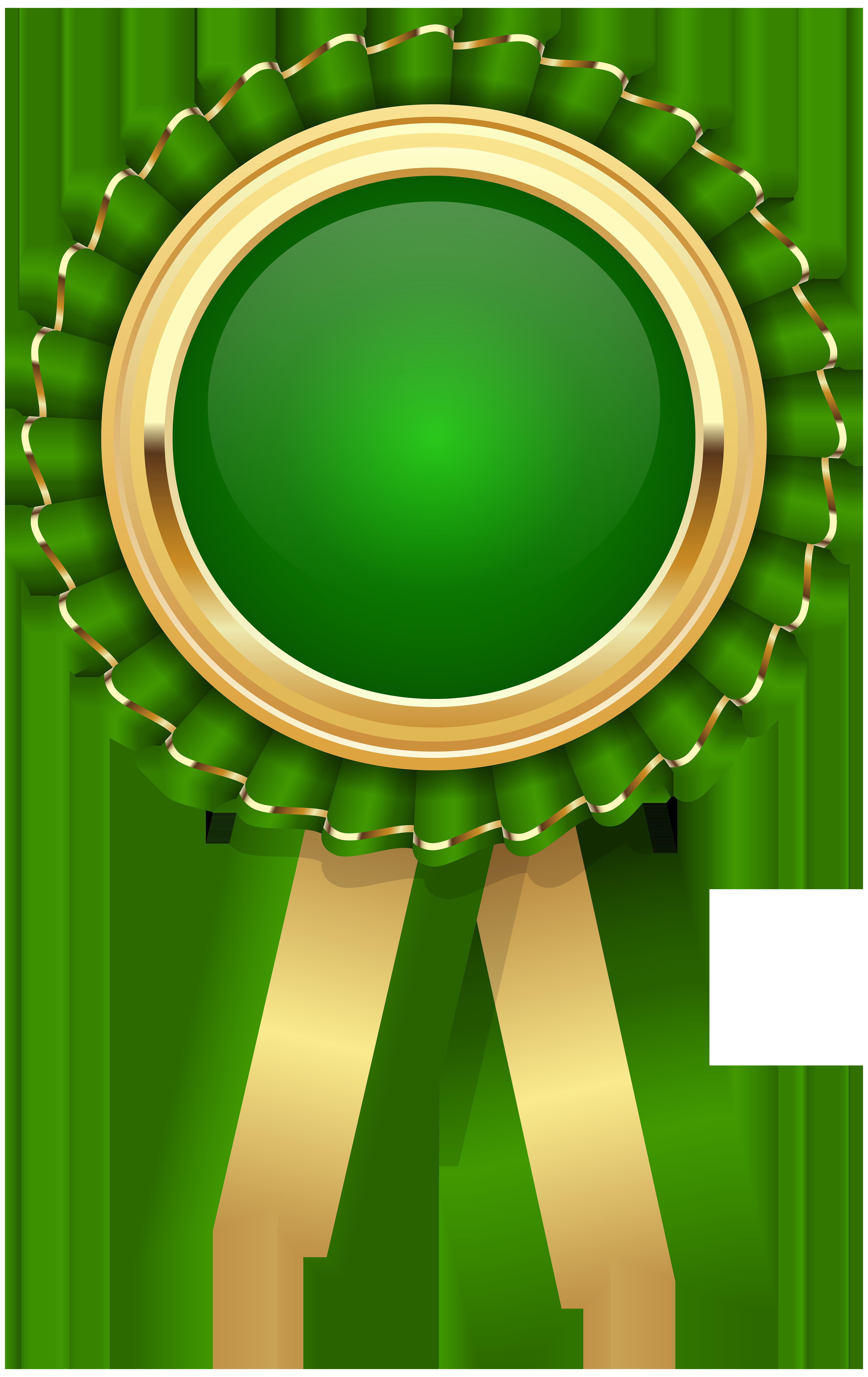 Green Rosette PNG Clip Art Image.