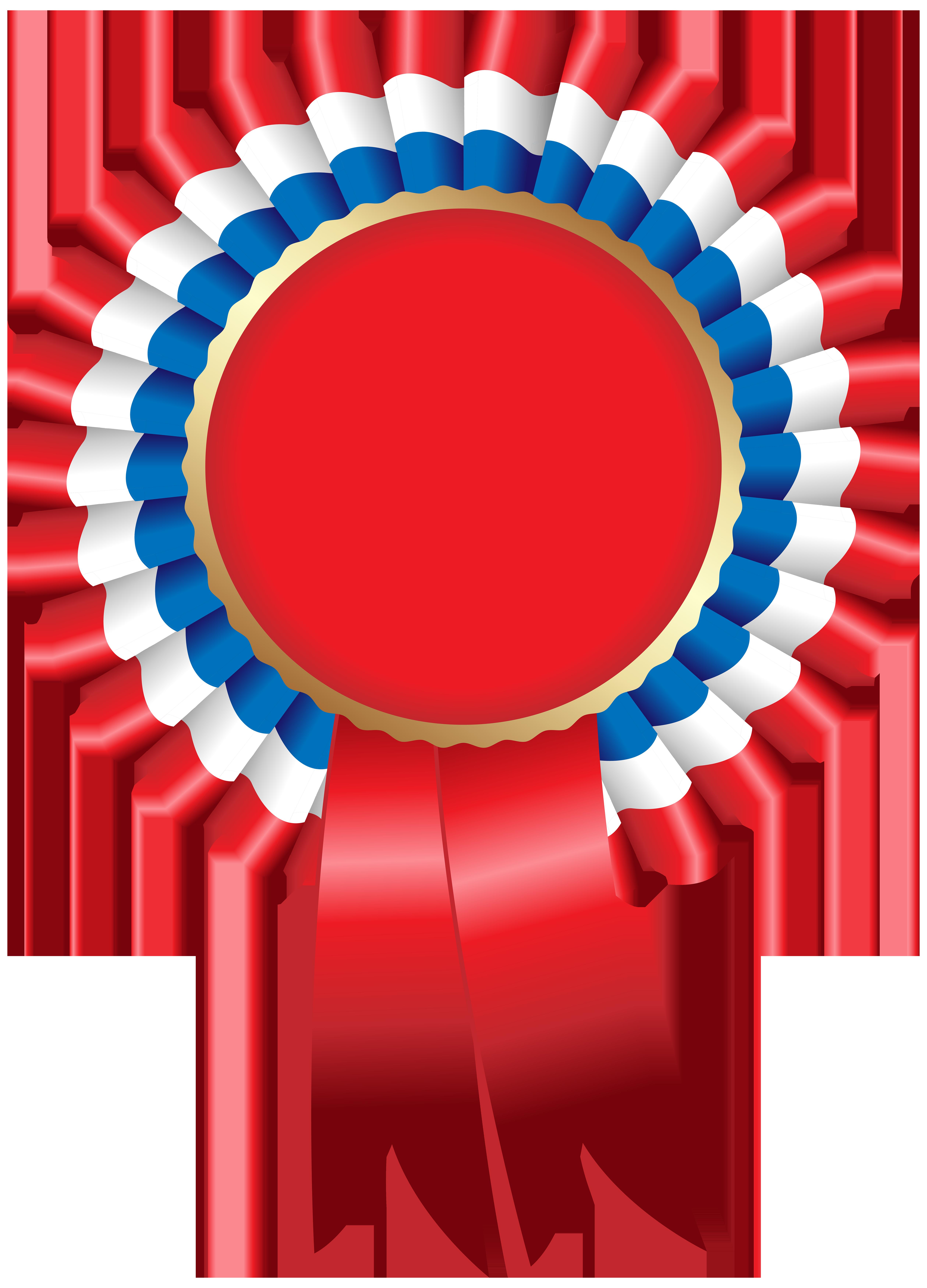 Rosette Ribbon PNG Clip Art Image.