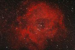 The Rosette Nebula Royalty Free Stock Image.