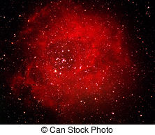 Picture of The Rosette Nebula located in the constellation.