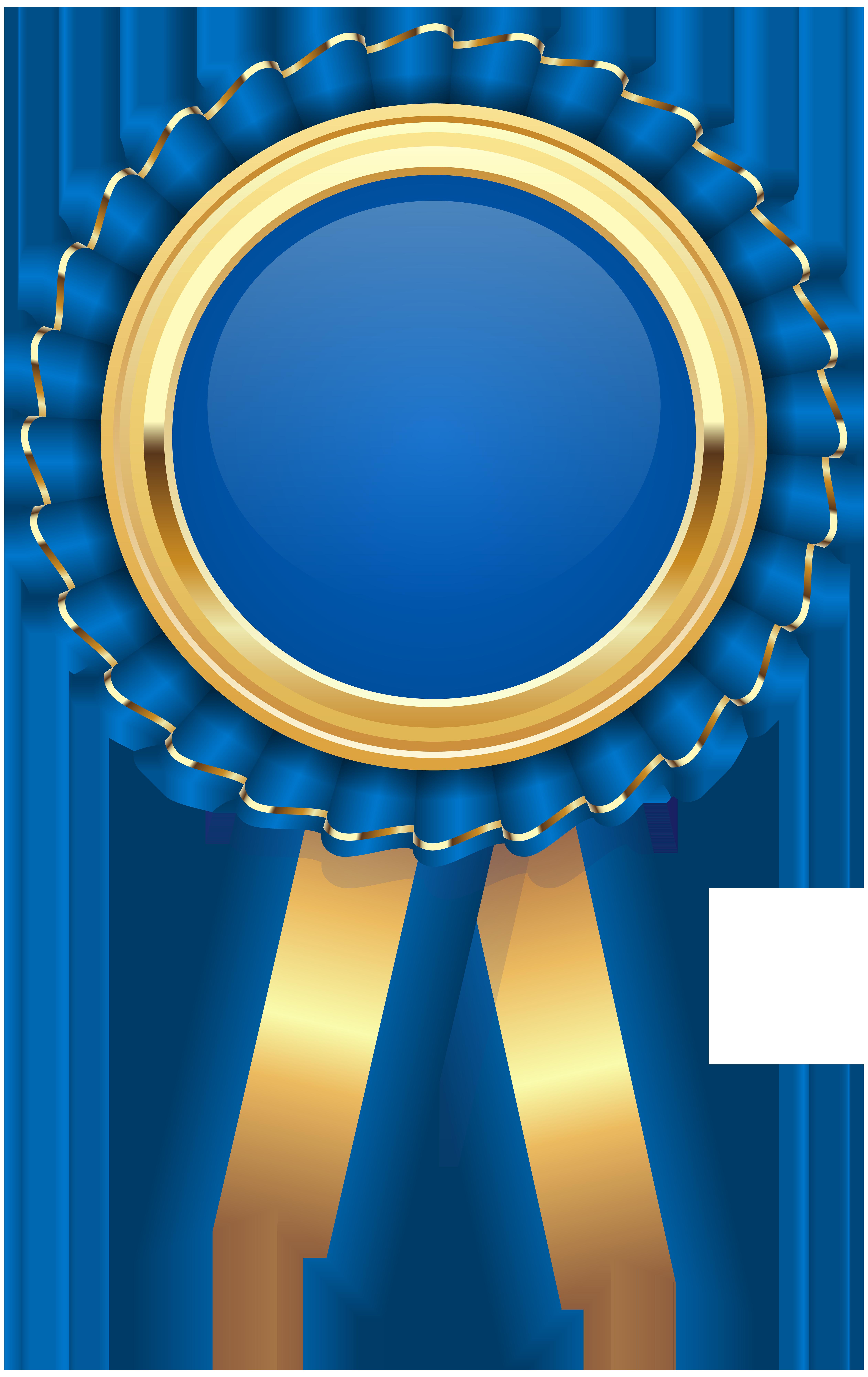 Blue Rosette PNG Clip Art Image.
