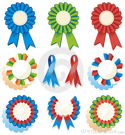 Six Rosettes Stock Photos.