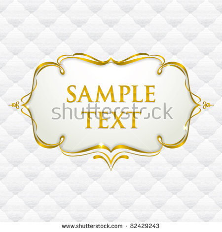 Gold Border Vector Stock Photos, Royalty.