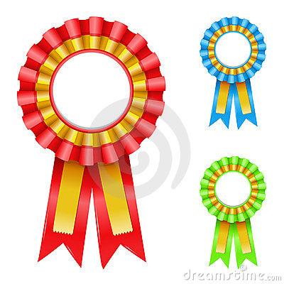 Award Rosettes Royalty Free Stock Photos.