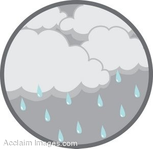 Clouds on a Rainy Day Clip Art.